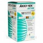 Тест-полоски Аккучек Актив Х50 (accu chek active X50)