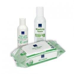 Набор средств для ухода за волосами и телом без воды ABENA