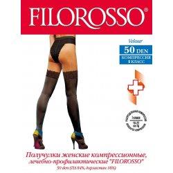Чулки лечебно-профилактические кружевные FILOROSSO 50 den (1 класс)