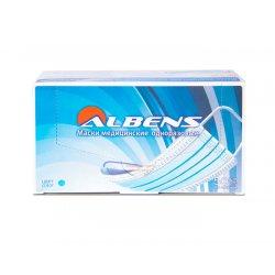 Маска трехслойная на резинках Albens (50 шт)