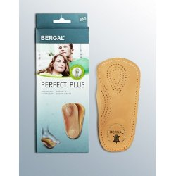 Кожаные стельки-супинаторы на ¾ с системой BOS (без мысочной части) Bergal Perfect Plus 87052