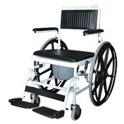 Кресло - каталка с санитарным оснащением и большими колесами 5019W24