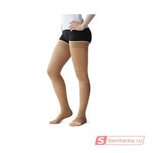 Чулок компрессионный выше колена без мыска, II кл. компрессии Польза