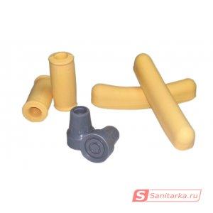 Комплект сменных насадок и валиков для подмышечных костылей