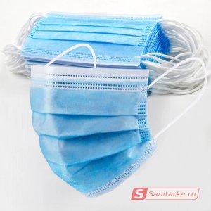 Маска медицинская 3-слойная (50 шт)