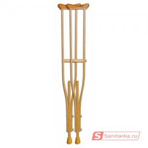 Подмышечный костыль деревянный 02-К