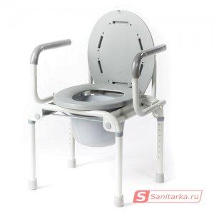 Кресло-туалет с съемным санитарным устройством для инвалидов Akkord-Klapp LY-2006