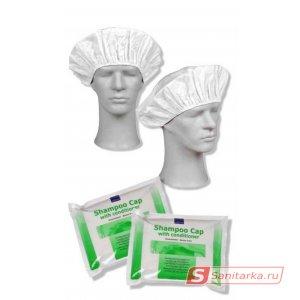Шапочка с шампунем и кондиционером для мытья волос без воды ABENA