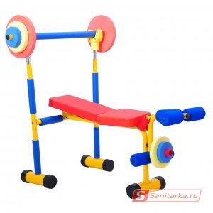 Детский тренажер скамья для жима LEM-KWB001