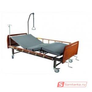 Медицинская кровать E-8 (ММ-16) (2 функции) с туалетным устройством, бук