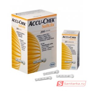 Ланцеты Аккучек СофтКликс Х25 (accu chek softclix X25)