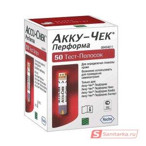 Тест-полоски Аккучек Перформа Х50 (accu chek performa X50)