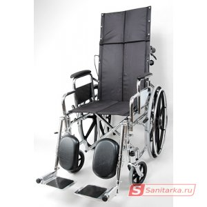 Стальная кресло-коляска с высокой спинкой 4318C0304M
