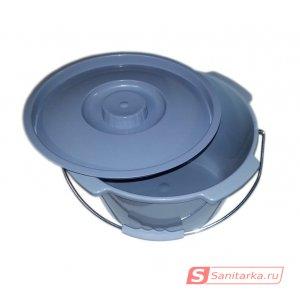Ведро для кресел-туалетов с крышкой