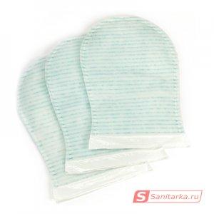 Рукавицы Dispobano Glove пенообразующие пропитанные мылом, с алоэ (20 шт)