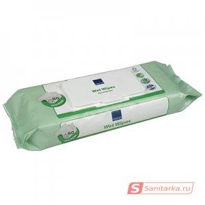Салфетки влажные очищающие 20 х 27 (80 шт) ABENA