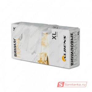 Перчатки виниловые неопудренные, гладкие, прозрачные ALBENS 7070